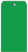 #8 DARK GREEN PLASTIC SHIPPING TAG PLAIN
