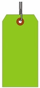 #8 FL GREEN SHIPPING TAG WIRED