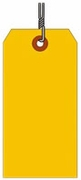#8 FL ORANGE SHIPPING TAG WIRED