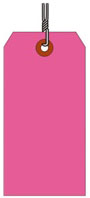 #8 FL PINK SHIPPING TAG WIRED