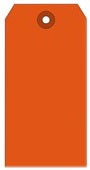 #8 FL RED SHIPPING TAG PLAIN