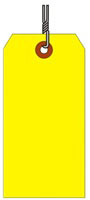 #8 FL YELLOW SHIPPING TAG WIRED
