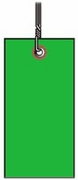 #8 GREEN TYVEK SHIPPING TAG WIRED