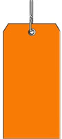 #8 ORANGE PLASTIC SHIPPING TAG WIRED