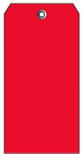 #8 RED PLASTIC SHIPPING TAG PLAIN