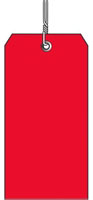 #8 RED PLASTIC SHIPPING TAG WIRED