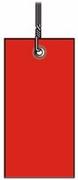 #8 RED TYVEK SHIPPING TAG WIRED