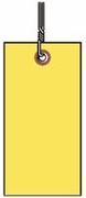 #8 YELLOW TYVEK SHIPPING TAG WIRED