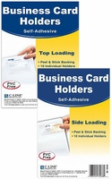 BUSINESS CARD HOLDERS - CLEAR - SELF ADHESIVE