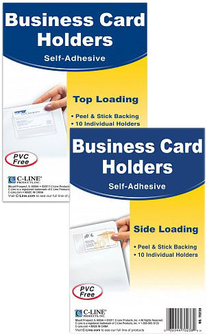 Business card holders clear self adhesive your source for laser labels ring binders no parking stickers shipping supplies and colourmoves