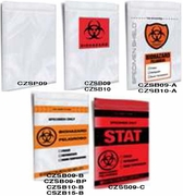 CLEARZIP® BIOHAZARD BAGS WITH DOCUMENT POUCH