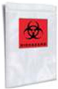 "CZSB10 - 8""X10"" CLEARZIP® BIOHAZARD SPECIMEN SHIELD™ BAGS W/ DOCUMENT POUCH - 2 MIL"