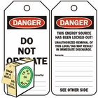 DANGER DO NOT OPERATE (250 PACK)