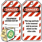 DANGER EQUIPMENT LOCKED OUT (250 PACK)