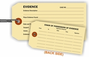 EVIDENCE/CHAIN OF POSSESSION TAG - MANILA