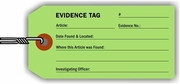 EVIDENCE TAG - LIGHT GREEN