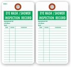 EYE WASH SHOWER INSPECTION RECORD TAG