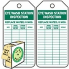 EYEWASH STATION INSPECTION - GREEN ON WHITE