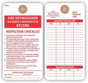 FIRE EXTINGUISHER REINSPECTION RECORD TAG