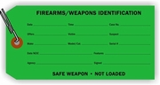 FIREARMS/WEAPONS IDENTIFICATION TAG - DARK GREEN