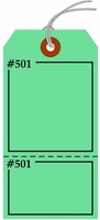 FLUORESCENT GREEN CLAIM CHECK TAG