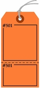 FLUORESCENT ORANGE CLAIM CHECK TAG