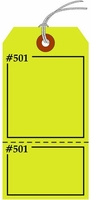 FLUORESCENT YELLOW CLAIM CHECK TAG