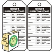 FORKLIFT INSPECTION RECORD - BLACK ON WHITE