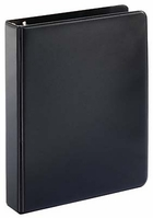 "#300 - 1"" little ring binder in black for 8 1/2x 5 1/2 sheet size"