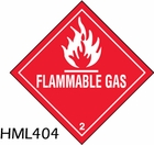 HML404 - FLAMMABLE GAS LABEL