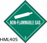 HML405 - NON-FLAMMABLE GAS LABEL
