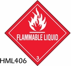 HML406 - FLAMMABLE LIQUID LABEL