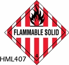 HML407 - FLAMMABLE SOLID LABEL