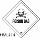 HML414 - POISON GAS LABEL