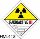 HML418 - RADIOACTIVE lll LABEL