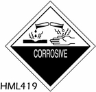 HML419 - CORROSIVE LABEL