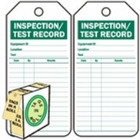 INSPECTION/TEST RECORD - GREEN ON WHITE