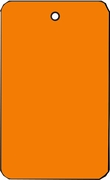 LARGE COUPON TAG BLANK NO STRING IN ORANGE
