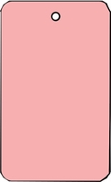 LARGE COUPON TAG BLANK NO STRING IN PINK