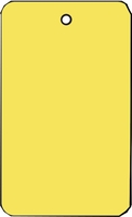 LARGE COUPON TAG BLANK NO STRING IN YELLOW