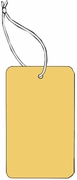 LARGE COUPON TAG BLANK WITH STRING IN BUFF