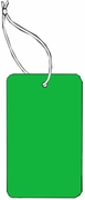 LARGE COUPON TAG BLANK WITH STRING IN DARK GREEN