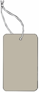LARGE COUPON TAG BLANK WITH STRING IN GREY