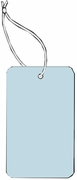 LARGE COUPON TAG BLANK WITH STRING IN LT BLUE