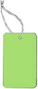 LARGE COUPON TAG BLANK WITH STRING IN LT GREEN