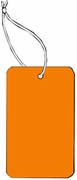 LARGE COUPON TAG BLANK WITH STRING IN ORANGE