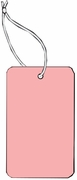 LARGE COUPON TAG BLANK WITH STRING IN PINK