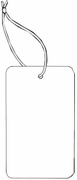 LARGE COUPON TAG BLANK WITH STRING IN WHITE
