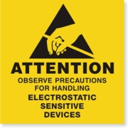 LBL01ATT - ATTENTION ELECTROSTATIC SENSITIVE DEVICES - PERMANENT
