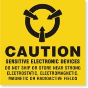 LBL01CAU - CAUTION SENSITIVE ELECTRONIC DEVICES - PERMANENT